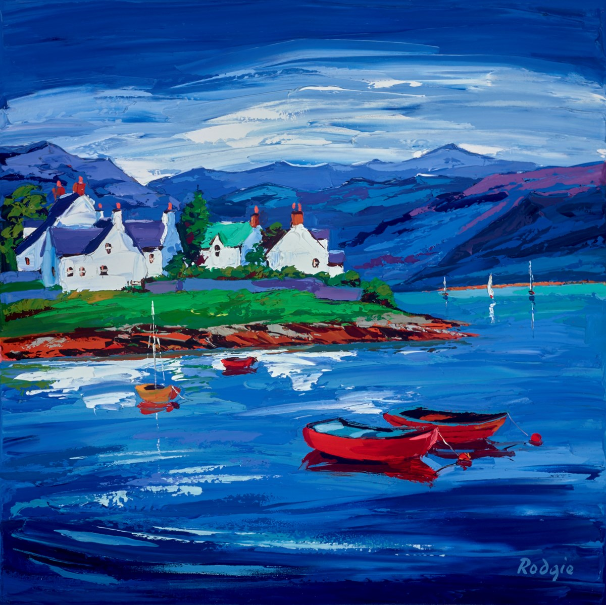 Evening Calm II by lynn rodgie -  sized 24x24 inches. Available from Whitewall Galleries